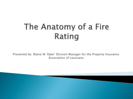 The Fire Suppression Rating Schedule