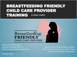 Breastfeeding Friendly Child Care Center Training