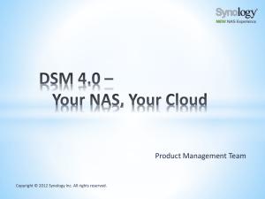 Synology NAS User`s Guide Based on DSM 5 2
