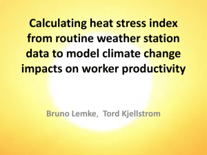 Calculating heat stress index from routine weather