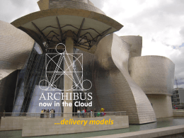 ARCHIBUS Delivery models - Extranet ASC-HS