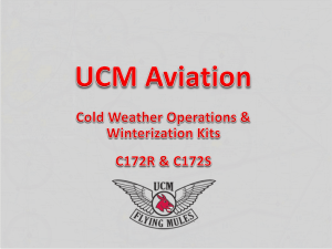 Cold Weather Operations C172R and C172S
