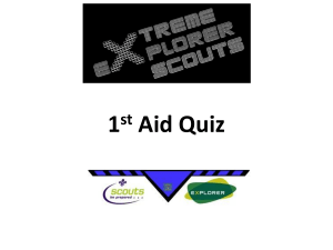 Mike`s first aid quiz - Lupine Adventure Co