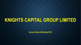 2013 AGM Presentation