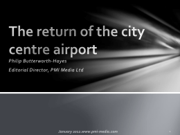 City centre airports – positives