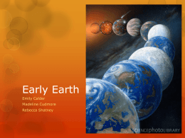 Early Earth - Hopkinton School District