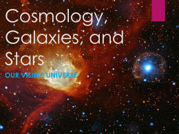Cosmology, galaxies, stars and the sun