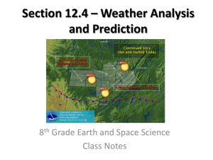 Section 12.4 * Weather Analysis and Prediction