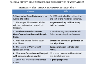 1. Ships sailed from African ports to Arabia and India.