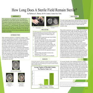 Honors Project - How Long Does A Sterile Field