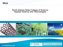 Wind Background - North Dakota State College of Science