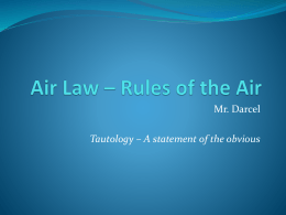 Air Law - Aerodromes - Winnipeg Ground School