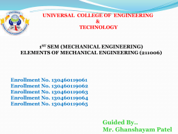 Air Conditioning. - Universal College of Engineering & Technology