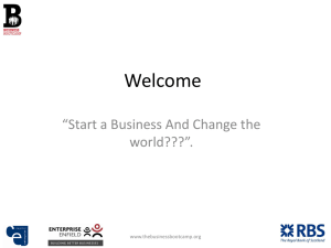 Start-up a business and change the world – Presentation