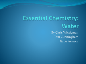 Essential Chemistry: Water