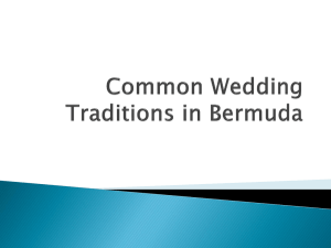 Common Wedding Traditions in Bermuda PPT