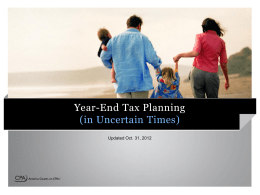 Tax Planning PowerPoint