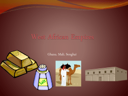 West African Empires - Tallmadge City Schools