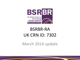 BSRBR-RA - The British Society for Rheumatology
