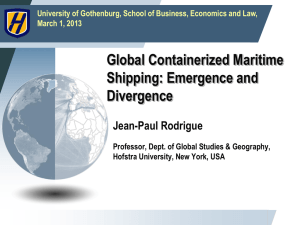 Global Containerized Maritime Shipping: Emergence and