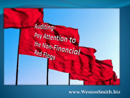 Auditing—Pay Attention to the Non