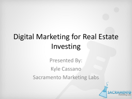 Kyle Cossanos Real Estate Marketing Presentation