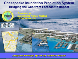 Chesapeake Inundation Prediction System (CIPS)