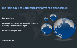 The Holy Grail of Enterprise Performance