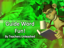 Guide Words - North Allegheny School District