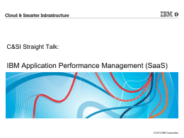 IBM Application Performance Management (SaaS)