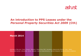 An introduction to PPS leases under the Personal Property