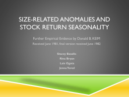 Size-Related Aomalies and Stock Return Seasonality