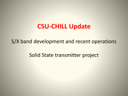 CSU-CHILL Update - Colorado State University