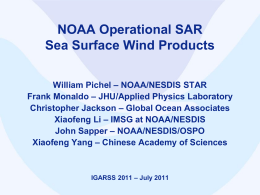 SAR winds operational – May 2011