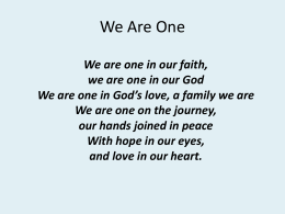 We Are One - Butterfly Music