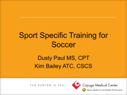 soccer training - Cayuga Medical Center