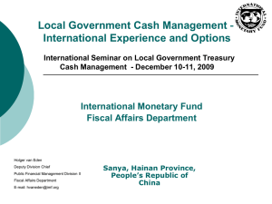 Local Government Cash Management - PFM blog