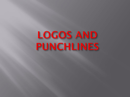 LOGOS AND PUNCHLINES - Sachdeva Global School