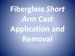 Short Arm Cast Application