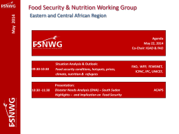 Final FSNWG Situation Analysis Outlook May 2014