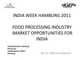 Food Processing: Market Opportunities For India