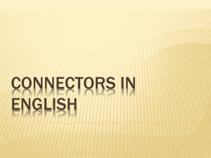 CONNECTORS IN ENGLISH - START