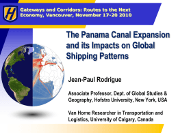 Panama Canal Changes and Impact on Global Shipping