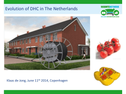 Evolution of DHC in The Netherlands