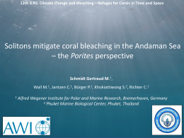 12:00 Schmidt G - 12th International Coral Reef Symposium