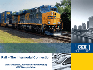 Rail - The Intermodal Connection: Drew Glassman, CSX
