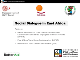 Powerpoint - International Trade Union Confederation