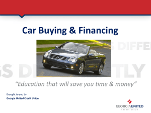 Car Buying & Financing - Georgia Tech Office of Human Resources