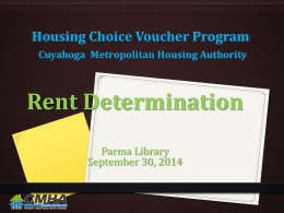 Rent Determination Presentation from 9/30/2013