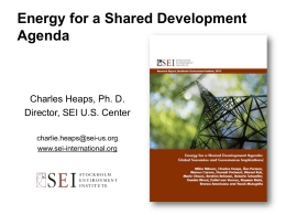 Energy for a Shared Development Agenda